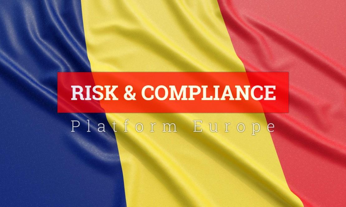 Roemeense vlag met logo RC